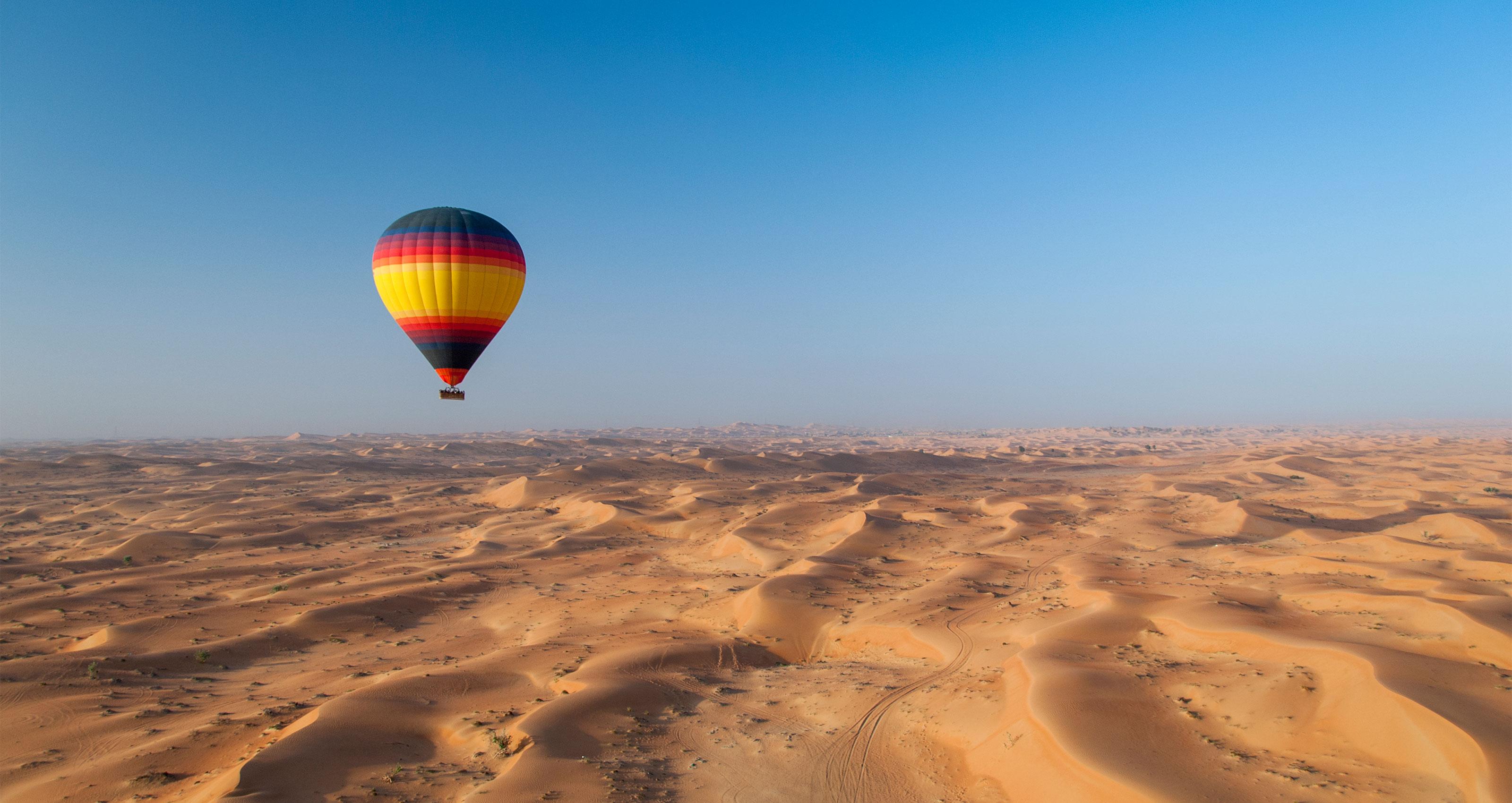 Enjoy hot-air ballooning