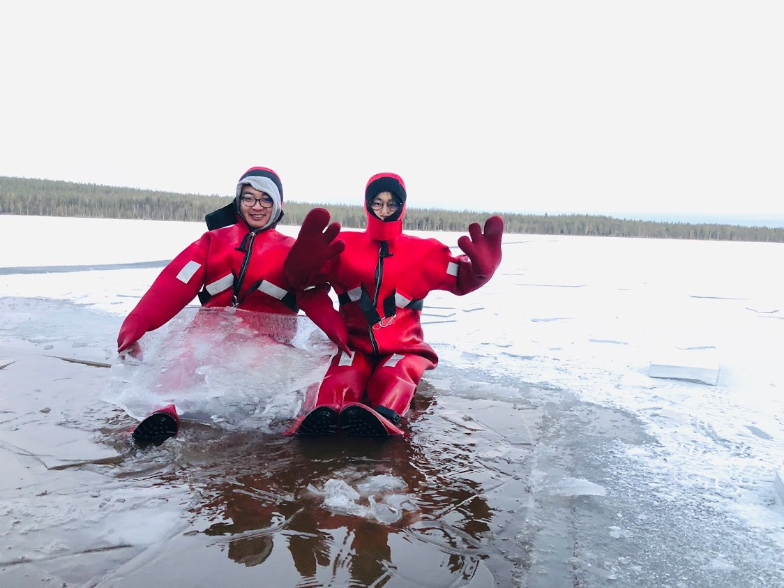 Arctic Day with Ice Fishing and Floating