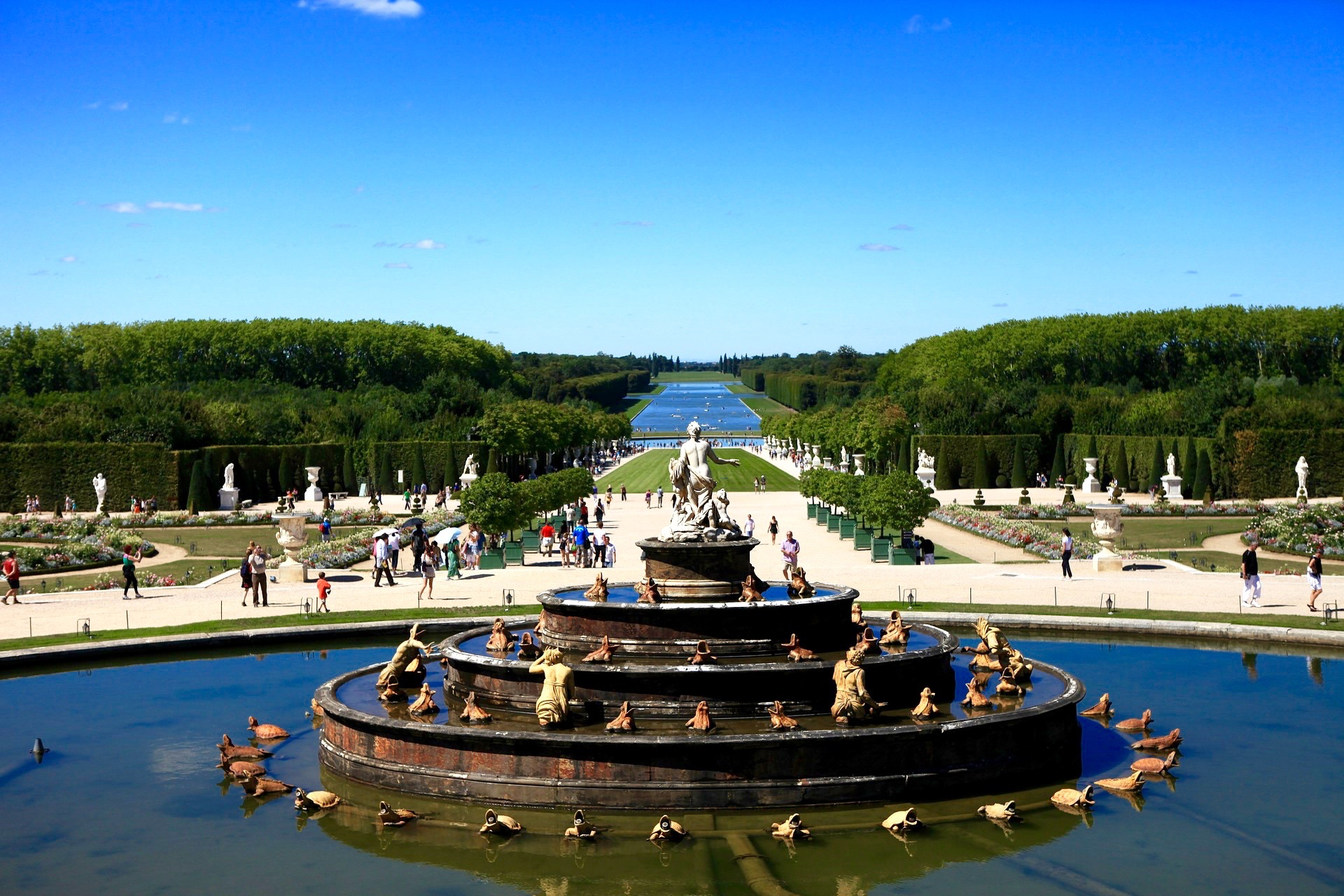 Paris Combo Day N1: «Mini-group Live Guided: Sightseeing City Tour, Seine River Cruise, Eiffel Tower, Versailles: Palace & Gardens, Trianon.