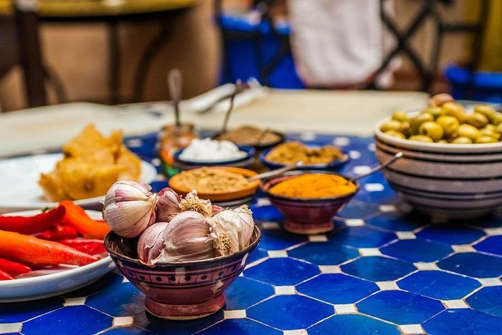Ingredients for your Moroccan cooking class