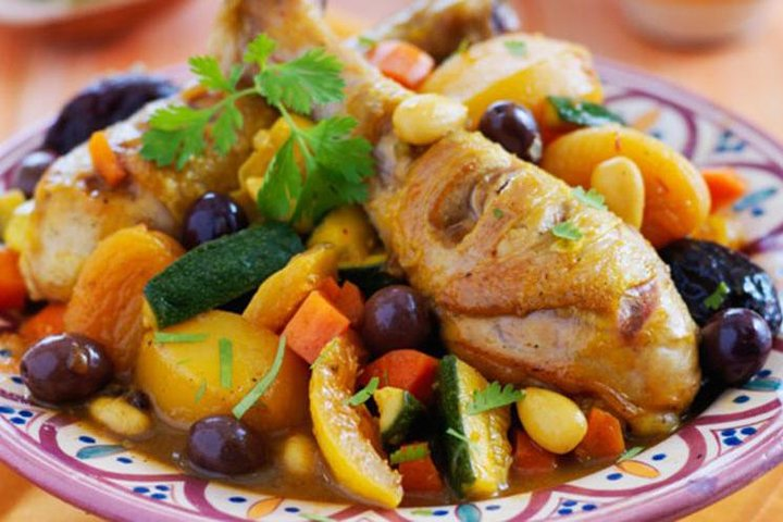Appetizing Moroccan food ready to taste