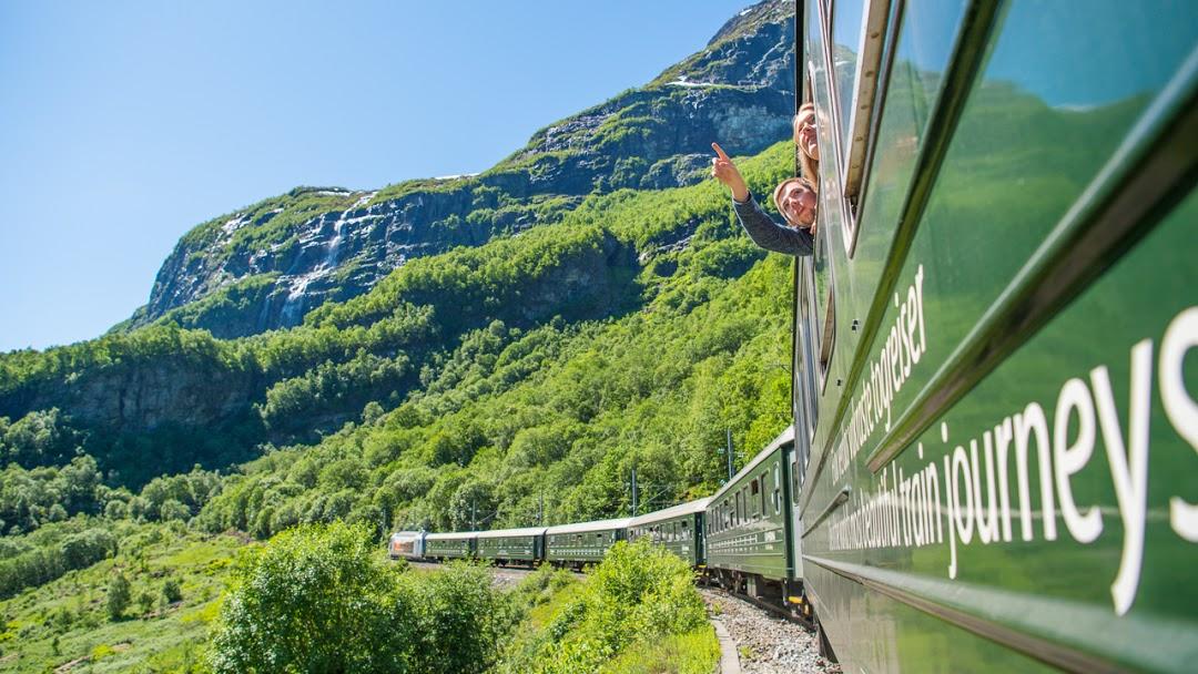 Enjoy the stunning train journey