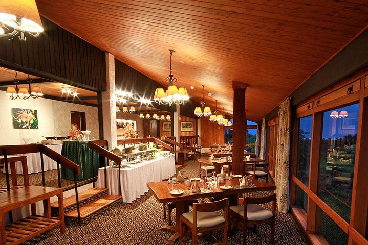 Dine in at this opulent space