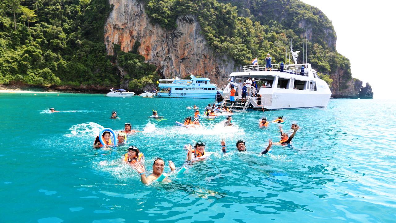 Enjoy swimming on the trip